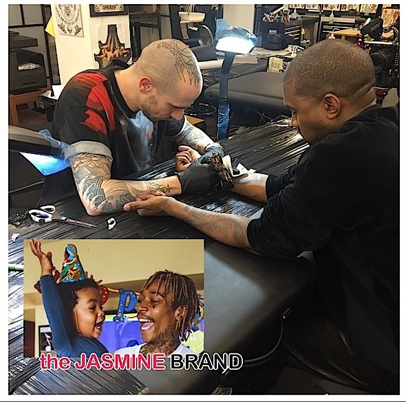 wiz khalifa son birthday-kanye west tattoo-the jasmine brand