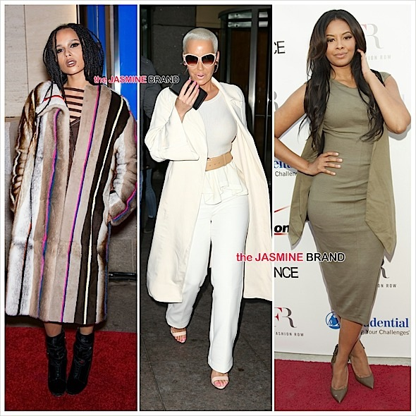 zoe saldana-amber rose-angela simmons-the jasmine brand