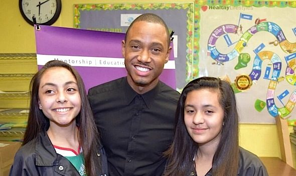E!'s Terrence J & Staci Harris Inspire Girls at The Boys & Girls Club [Photos]