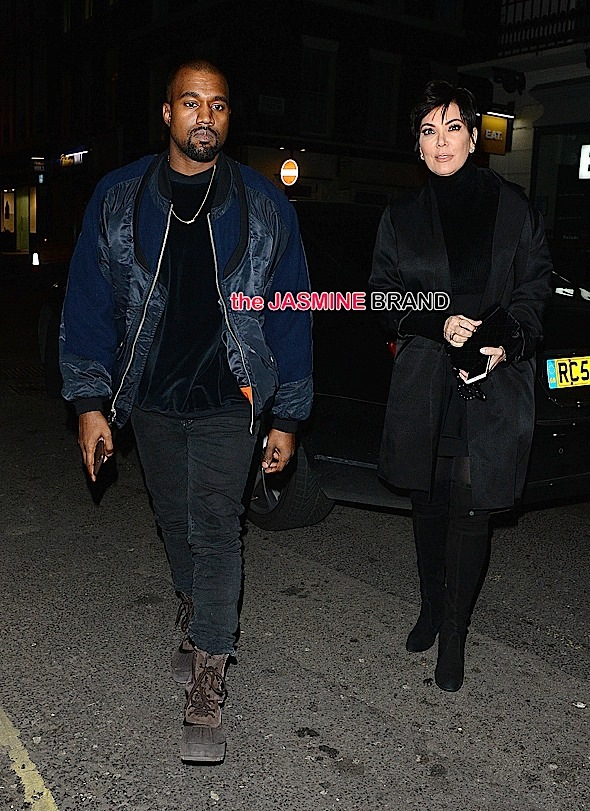 Kanye West and Kris Jenner at The Arts Club.