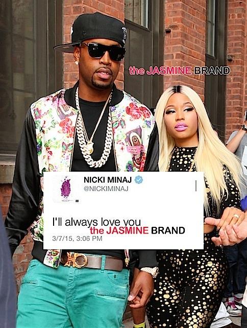 Nicki-Minaj-and-boyfriend-Safaree-anniversary tweets-jasmine-brand