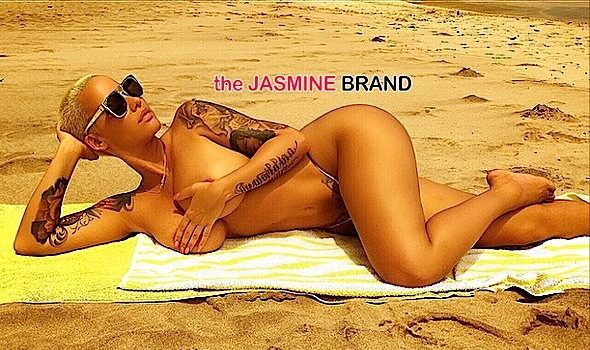 Topless in Maui! Amber Rose Takes Her Top Off, Goes Beachin' [Photos]