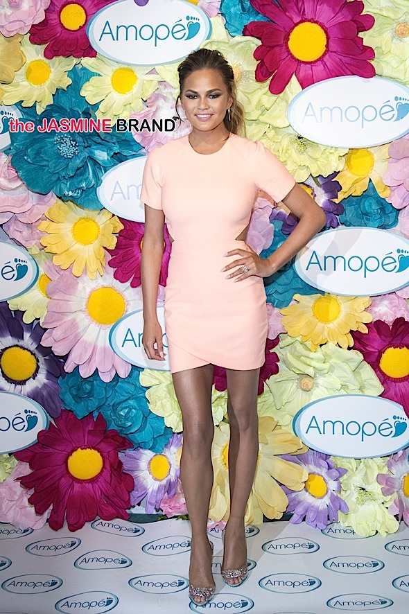 "Amope Pedi ""Glass-Slipper"" Ready Pedicure Event with Chrissy Teigen in New York City"