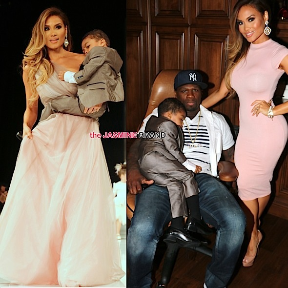 daphne joy-sire jackson-50 cent-la fashion show