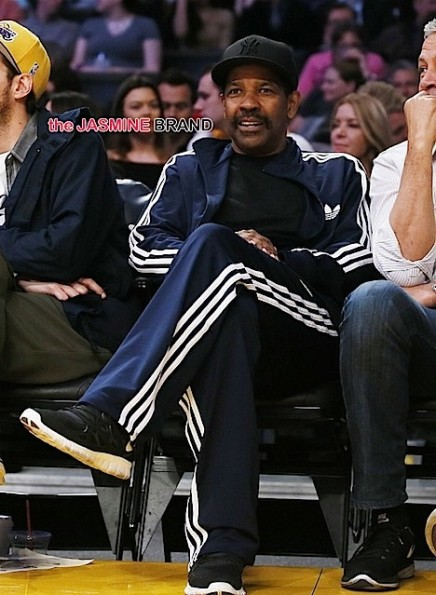 denzel washington-lakers game-the jasmine brand