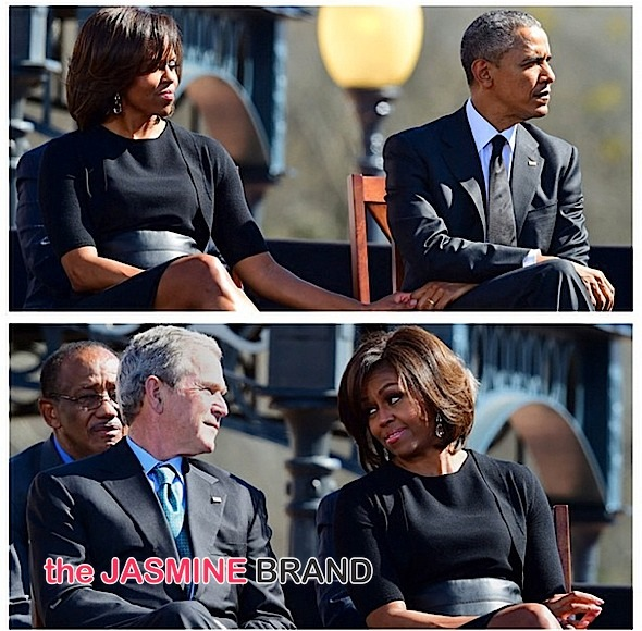 first lady michelle obama-george w bush-Bloody Sunday Selma 50 Anniversary-the jasmine brand