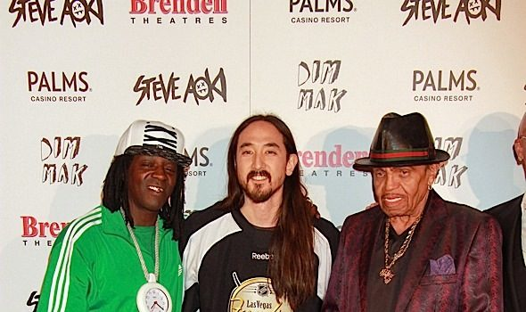 Flavor Flav, Joe Jackson, Coolio Attend Steve Aoki's 'Walk of Fame' [Photos]