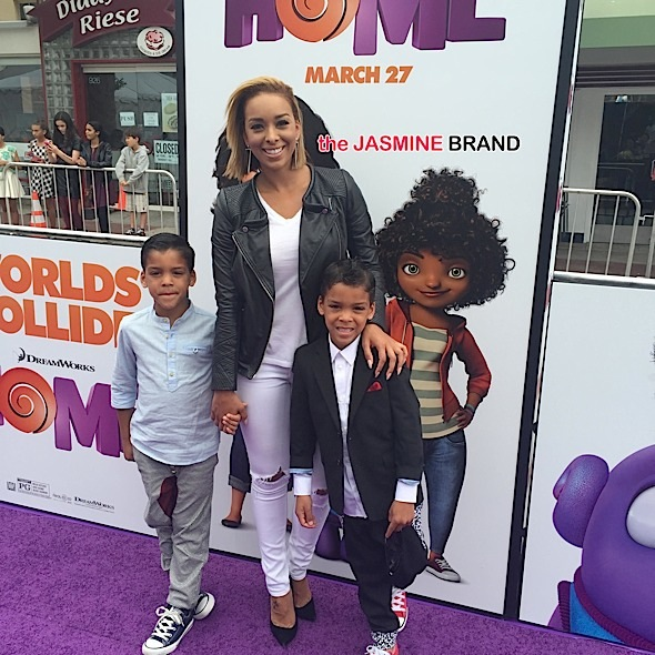 gloria govan-home premiere with sons-the jasmine brand
