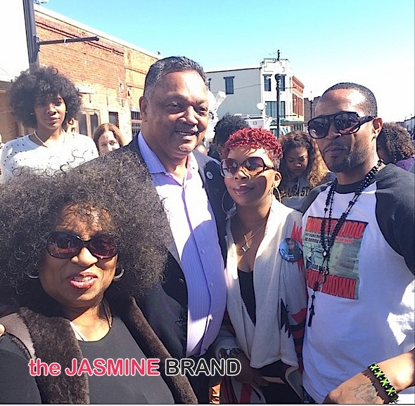 Rev, Jesse Jackson with the parents of late slain teen, Mike Brown.