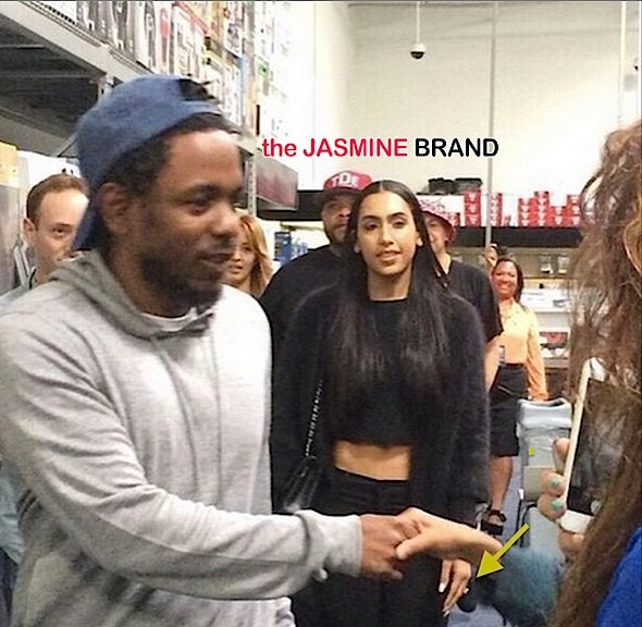 kendrick lamar-girlfriend whitney alford-engagent ring-the jasmine brand