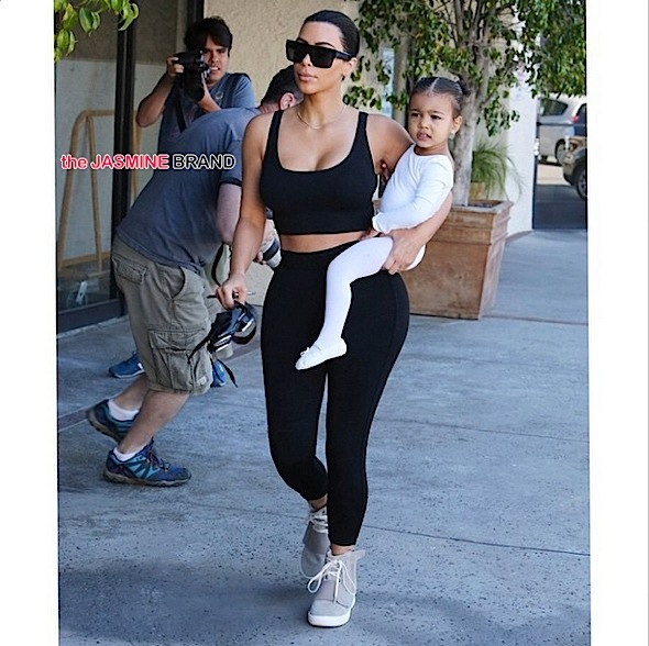 kim kardashian-baby north west-dance class-calabassas-the jasmine brand