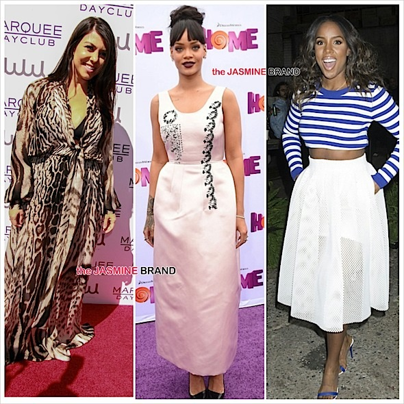 kourtney kardashian-rihanna-kelly rowland-the jasmine brand