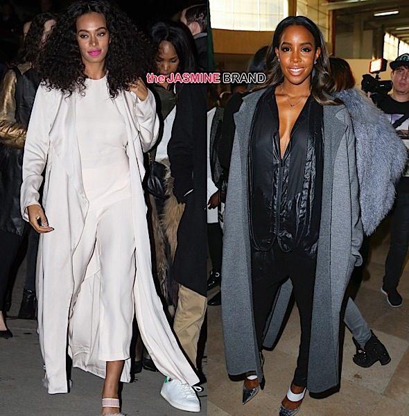 Celebs Invade Paris Fashion Week: Kelly Rowland, Solange, KimYe, Joan Smalls & More! [Photos]