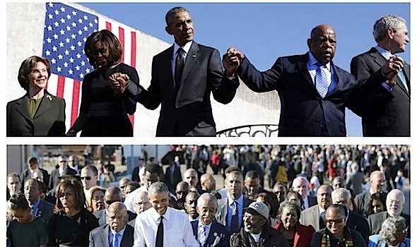 Bloody Sunday: President Obama, Rev. Al Sharpton, George W. Bush, Tom Joyner, Kelly Price, Estelle & More Gather For Selma 50 [Photos]