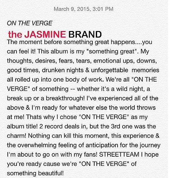 sevyn announces new album title on the verge-the jasmine brand