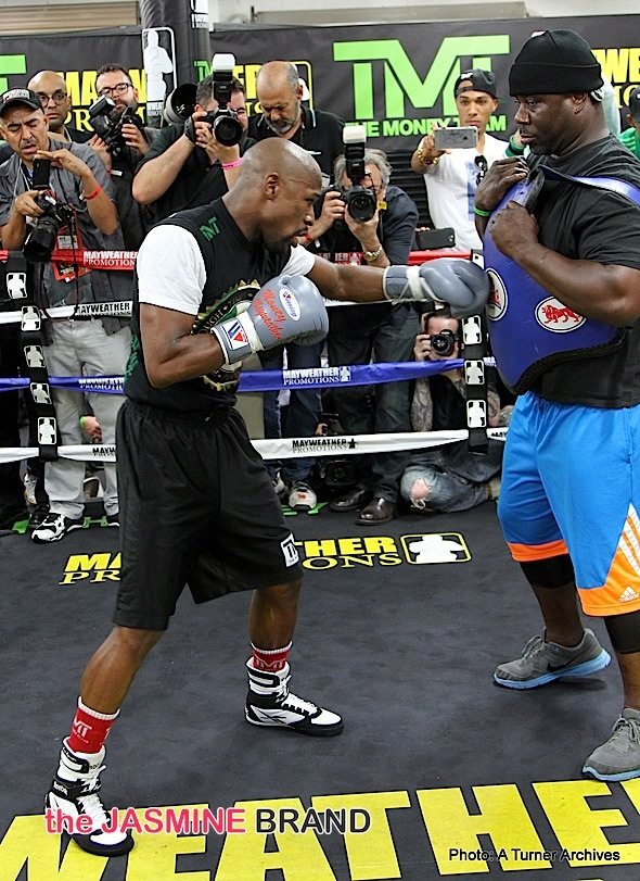 Floyed  Mayweather Media Workout Day