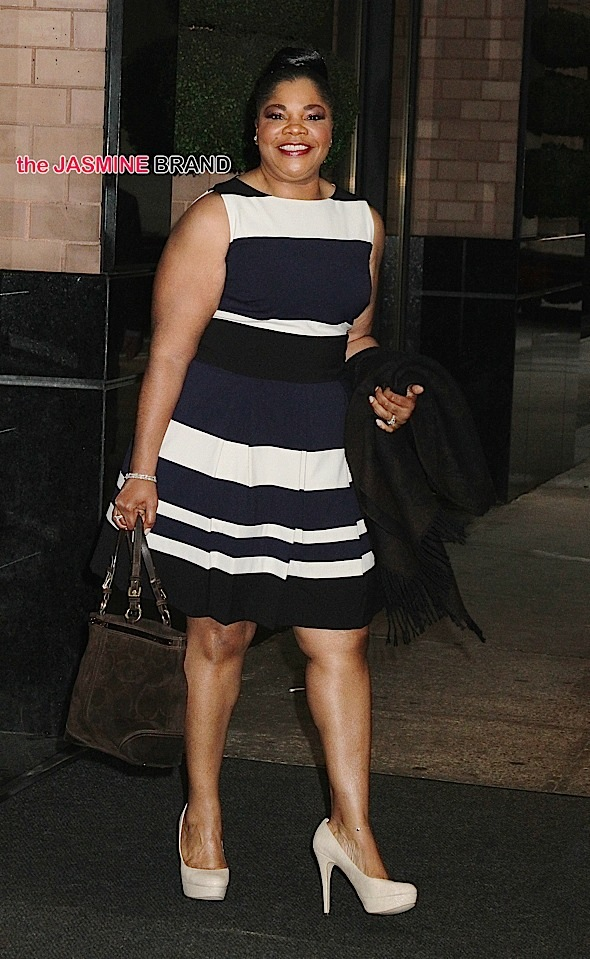 Academy Award-winning comedian and actress Mo'Nique spotted leaving her hotel in NYC