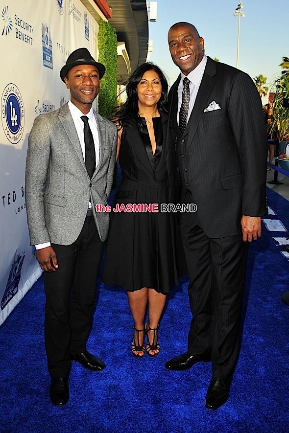 Aloe Blacc, Cookie Johnson, Magic Johnson