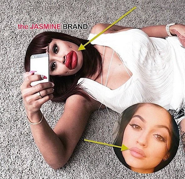 Blac Chyna Shades Kylie Jenner Lip Challenge + Kylie Speaks Out-the jasmine brand