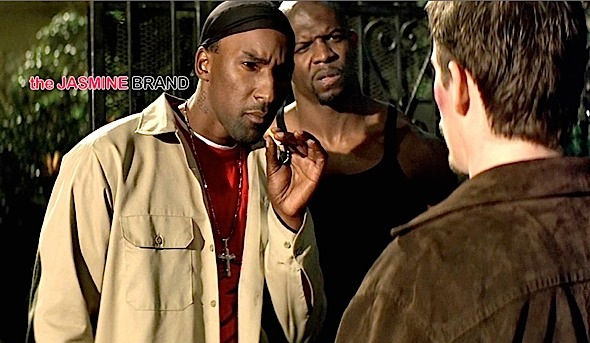 Cle Bone Sloan on set of 'Training Day'