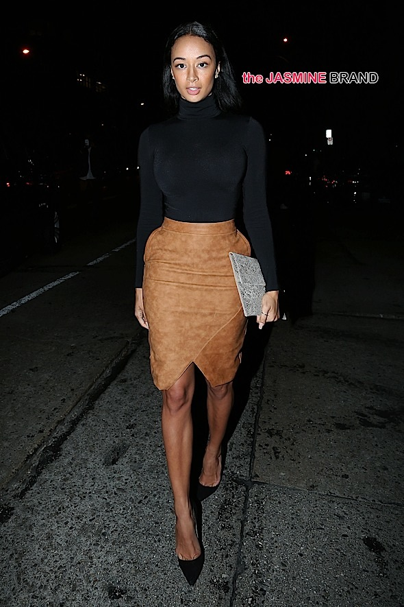 Draya Michele Parties at Hooray Henrys