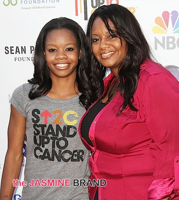 Photo of Gabrielle Douglas & her Mother  Natalie Hawkins