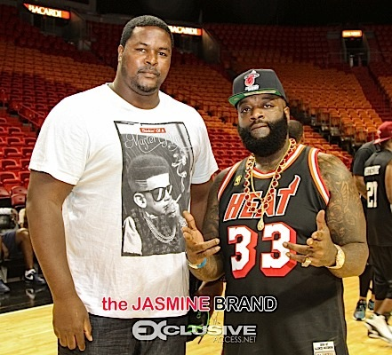 Rick Ross & Bryant Mckinnie Play Coach At 4th Annual Court of Dreams [Photos]