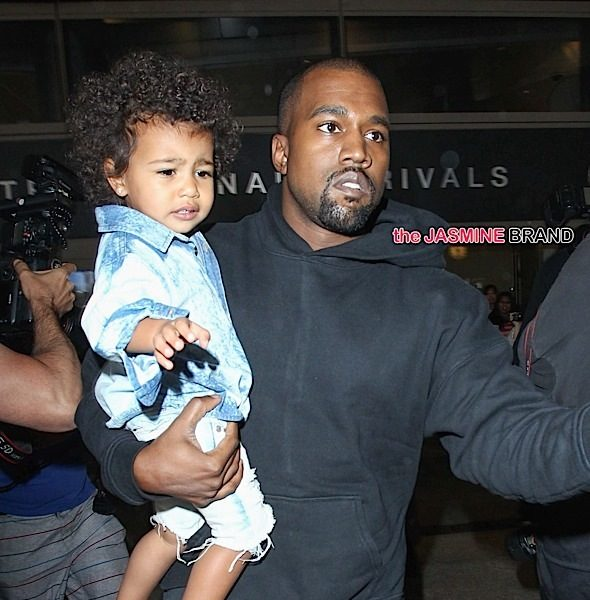 Kanye West, Kim Kardashian & North West Swarmed by Photogs At LAX [Photos]