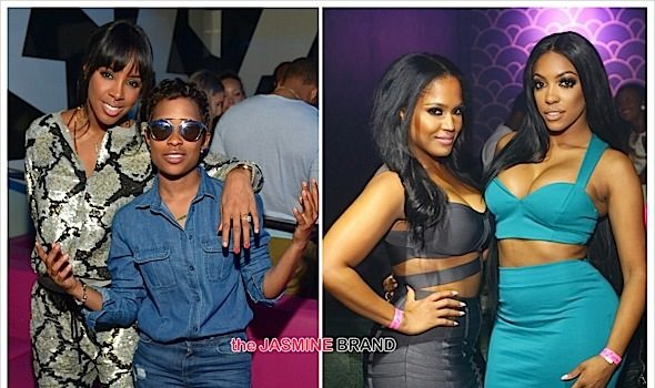 Kelly Rowland, Porsha Williams & Dej Loaf Party At Atlanta's Gold Room [Photos]
