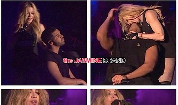 Madonna Slides Her Famous Tongue In Drake's Mouth [VIDEO]