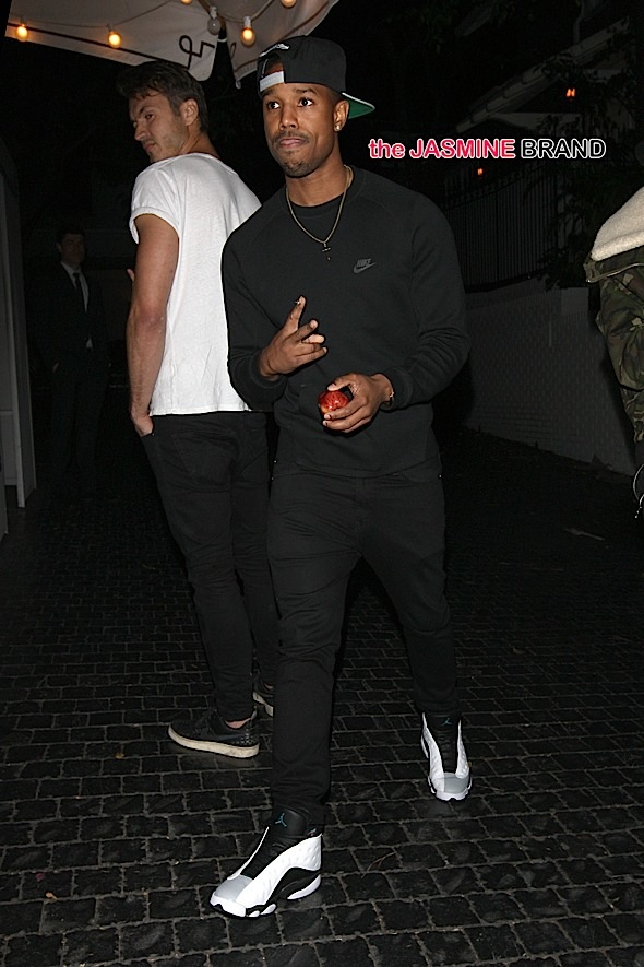 Michael B Jordan Has Dinner at The Chateau Marmont