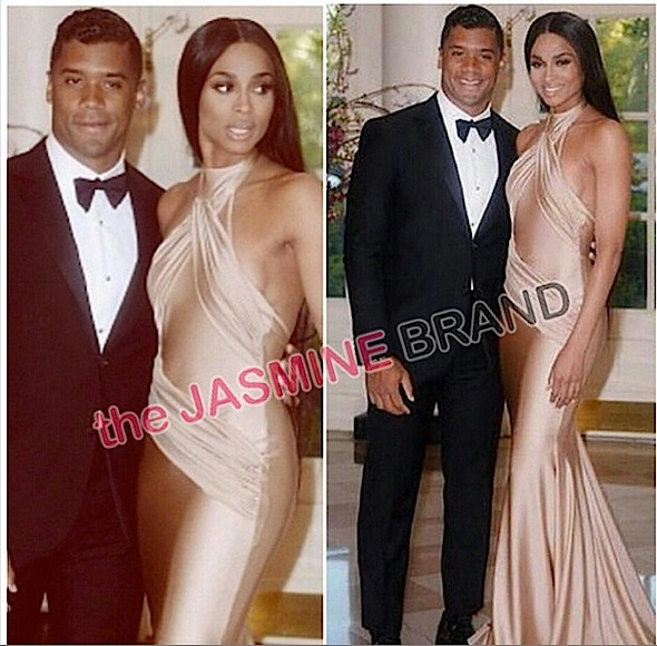 Couple Cuteness: Russell Wilson & Ciara Attend White House State Dinner [Photos]