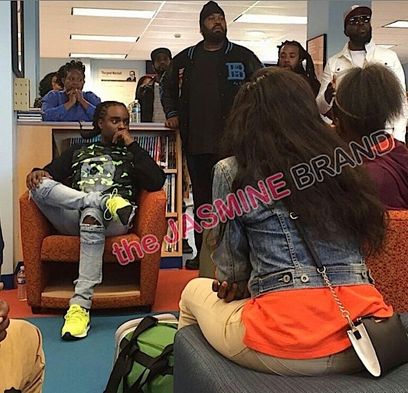Wale Visits Baltimore High School: Talks to Students About Protests & Pursuing Their Passion [VIDEO]