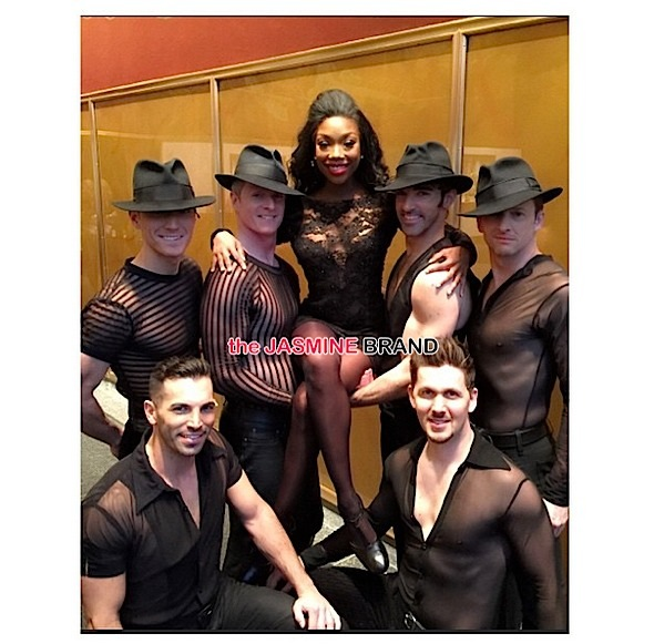 brandy poses-chicago musical-today show-the jasmine brand