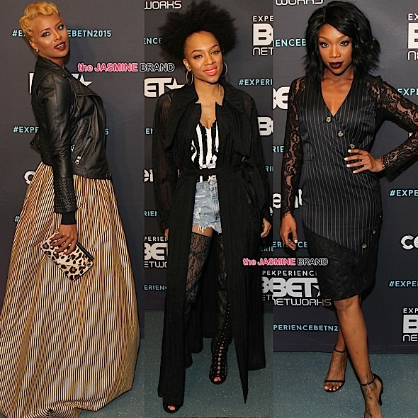 Kelly Rowland, Tyrese, Brandy, Eva Marcille, Lil Mama & More Attend BET Upfronts [Photos]