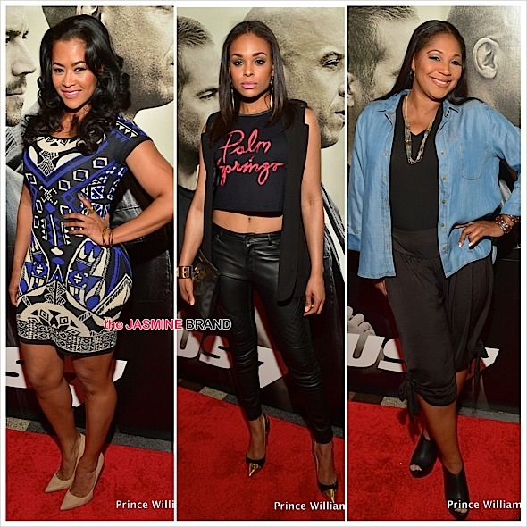 Lisa Wu, Demetria McKinney, Trina Braxton, Toya Bush-Harris, Lisa Nicole Cloud Attend 'Furious 7' Premiere [Photos]