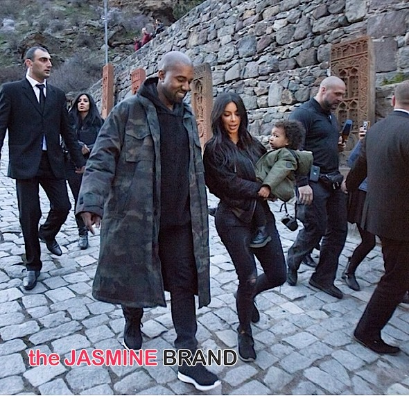 kanye west-Kardashians-Kanye West baby North Visit Armenia-the jasmine brand