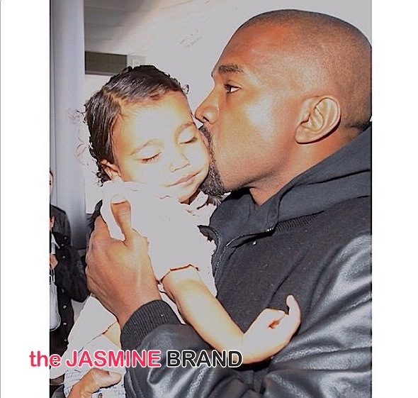 kanye west-kisses a sleeping north west-lax-the jasmine brand