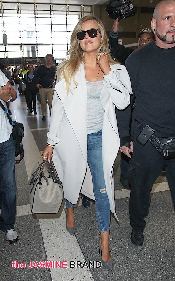 Khloe Kardashian Sighted at LAX on April 7, 2015