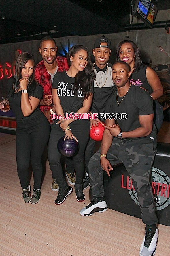 lala-michael b jordan-terrence j-bowling birthday party-the jasmine brand