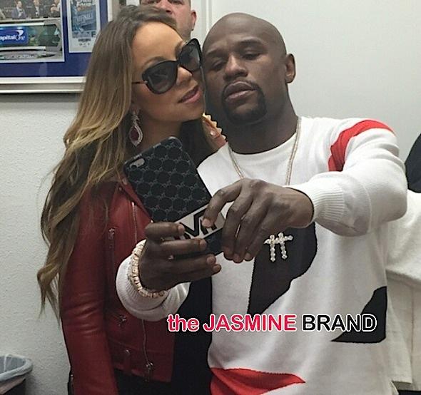 Mayweather & 50 Cent Reunite, Kanye Chills With Ralph Lauren, Chris Brown Goes 'Black' + Luda Wife's Baby Bump, Joseline Hernandez & Stevie J, Mariah Carey's TMT Shot [Photos]