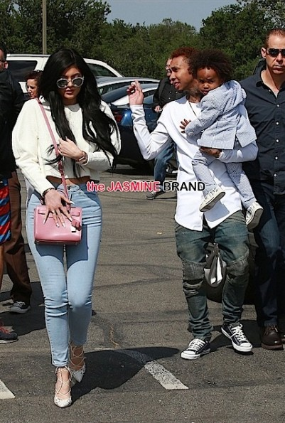 tyga brings son king easter sunday-with kylie jenner-the jasmine brand