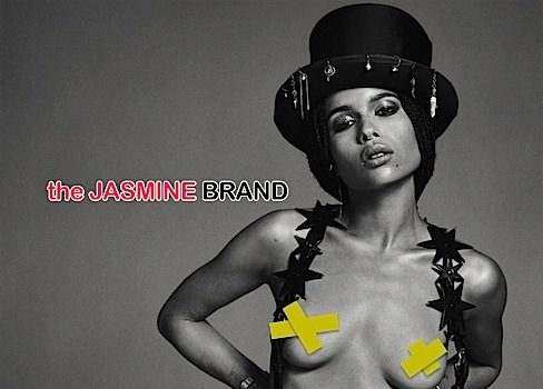 Nipple Game Proper, Zoe Kravitz Poses Chest Naked For Flaunt [Photos]