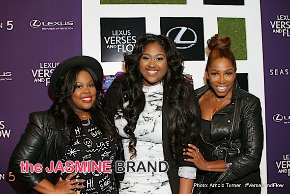 Amber Riley, Jazmine Sullivan, AJ Johnson