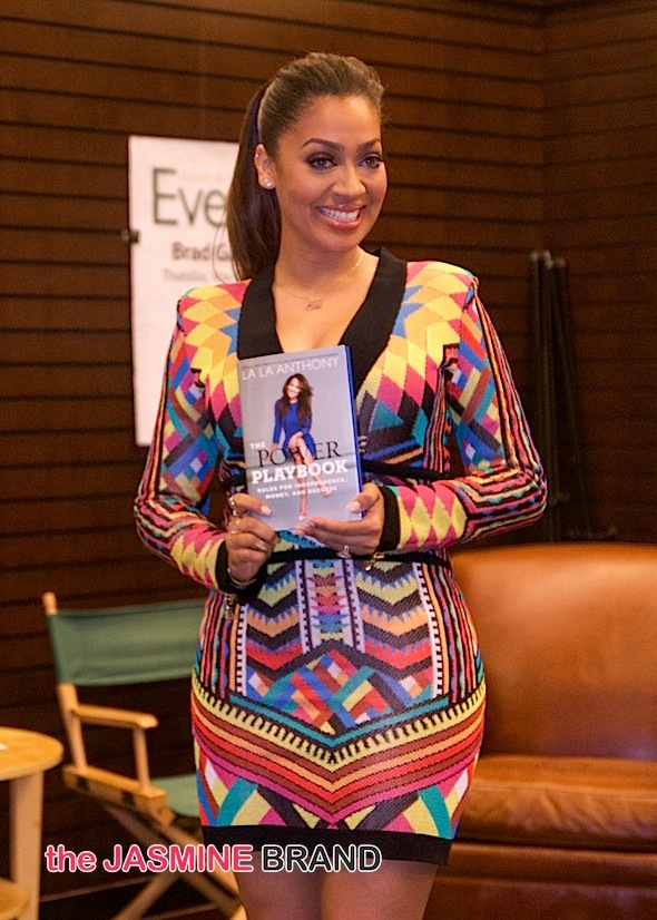 "La La Anthony's ""The Power Playbook"" Book Signing at Barnes & Noble at The Grove in Los Angeles on May 12, 2015"