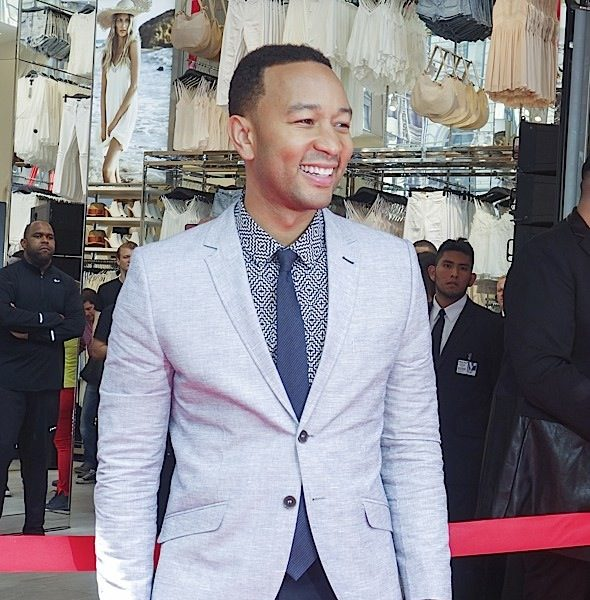 John Legend and H&M Host Grand Opening of New H&M Store in NYC [Photos]