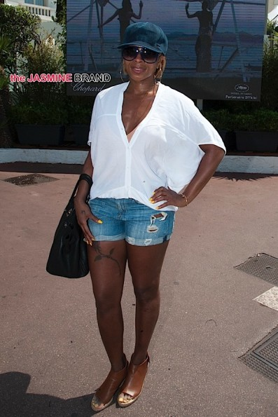 Mary J. Blige seen outside the Martinez Hotel in Cannes