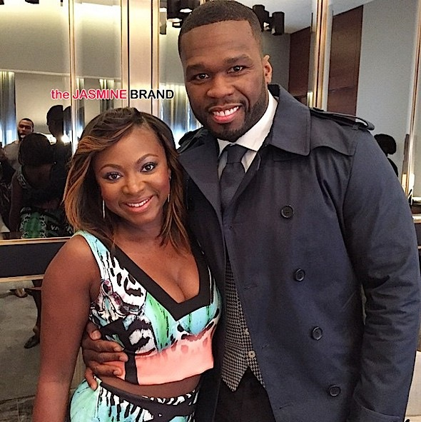 Naturi Naughton-50 Cent promote Power-the jasmine brand
