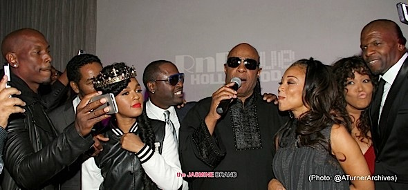 Stevie Wonder 65th Birthday Bash: Janelle Monae, Johnny Gill, Tyrese, Cedric the Entertainer, Quincy Jones, Chante Moore, LisaRaye McCoy & More Attend! [Photos]