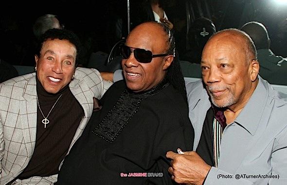 Smokey Robinson, Stevie Wonder, Quincy Johnes